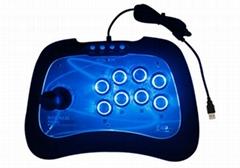 NYGACN尼嘉PS4街機遊戲搖桿支持強勁震動酷炫LED燈按鍵