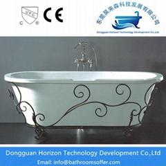Oval massage bathtub classical bathtub