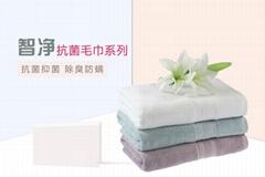 智净纳米银纤维抗菌超柔软微弹厚四季健康毛巾