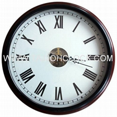 Top grade solid wood mechanical wall clock