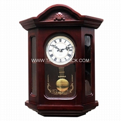 High quality home decor pendulum wooded wall clock