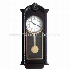 Classic antique high quality pendulum wooded wall clock
