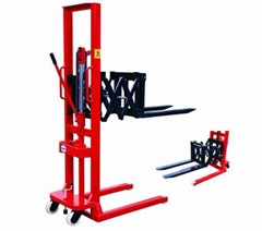 2ton manual stacker hydraulic lift truck hand forklift from China