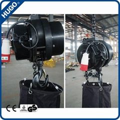 Electric chain stage hoist hook inverted