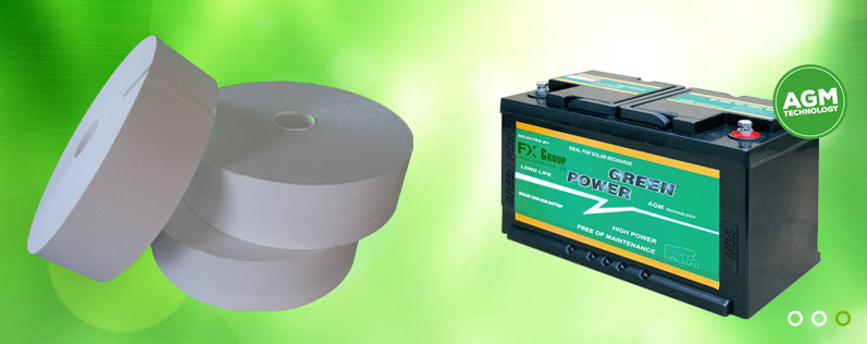 Composite Fibre Glass Mat Battery Separator with Tissue 1