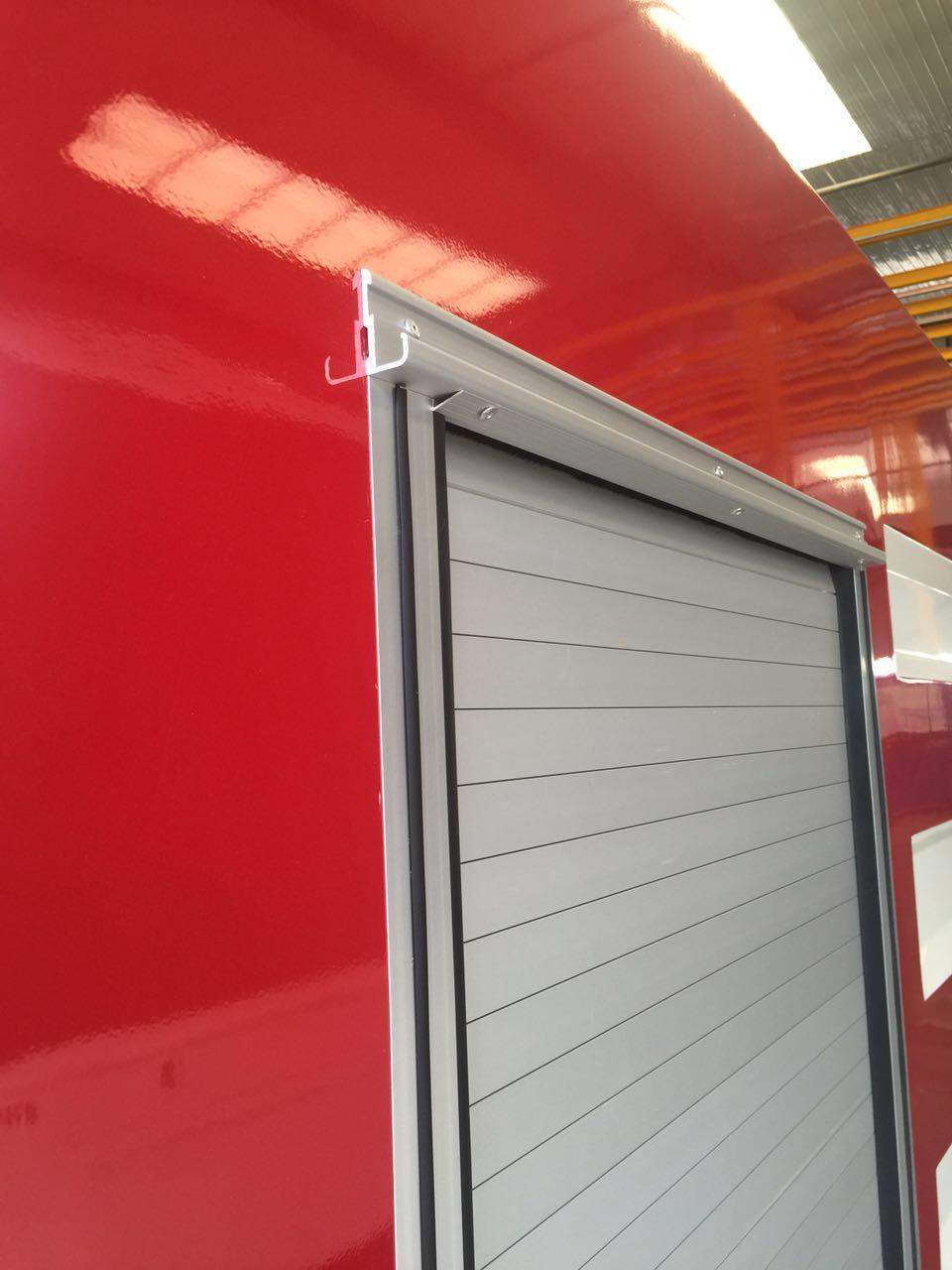 Fire Equipment Aluminium Roll-up Door Cargo Truck Roller Blind Shutter 4
