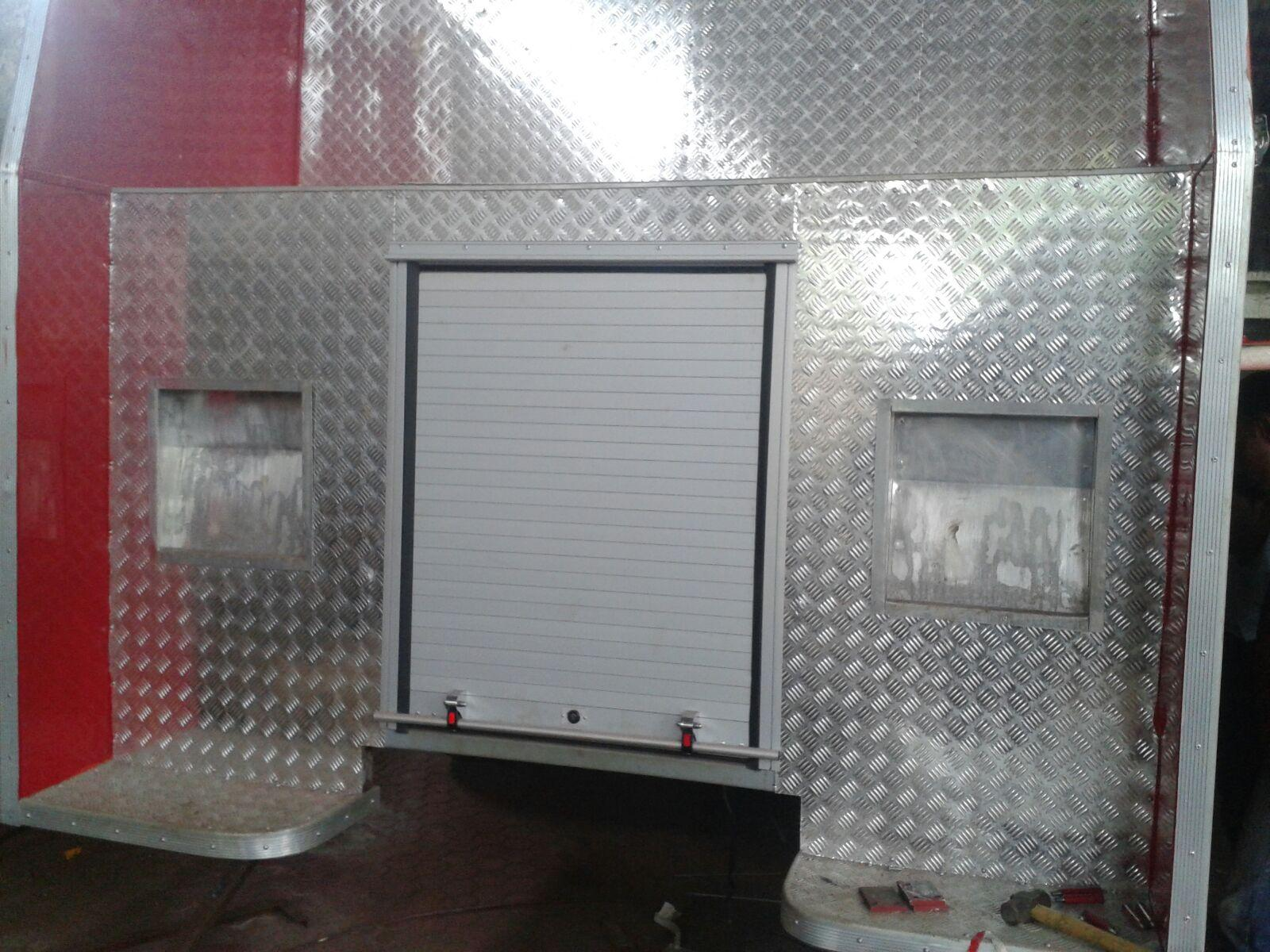Truck Aluminum Rolling Shutter Fire Proofing Roll-up Doors 1
