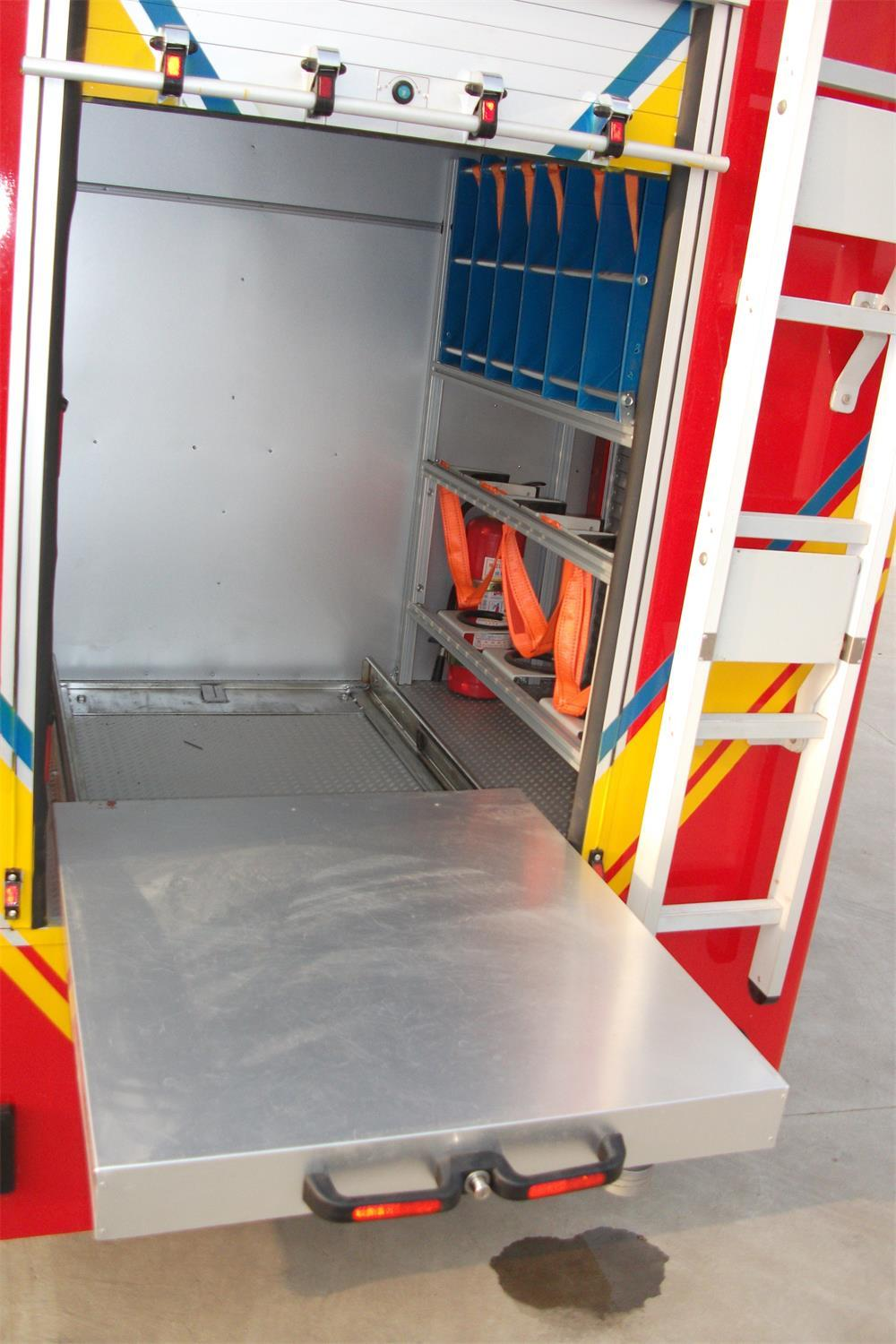 Fire Control Equipment Emergency Rescue Truck Inner Parts Vertical Pallets 3
