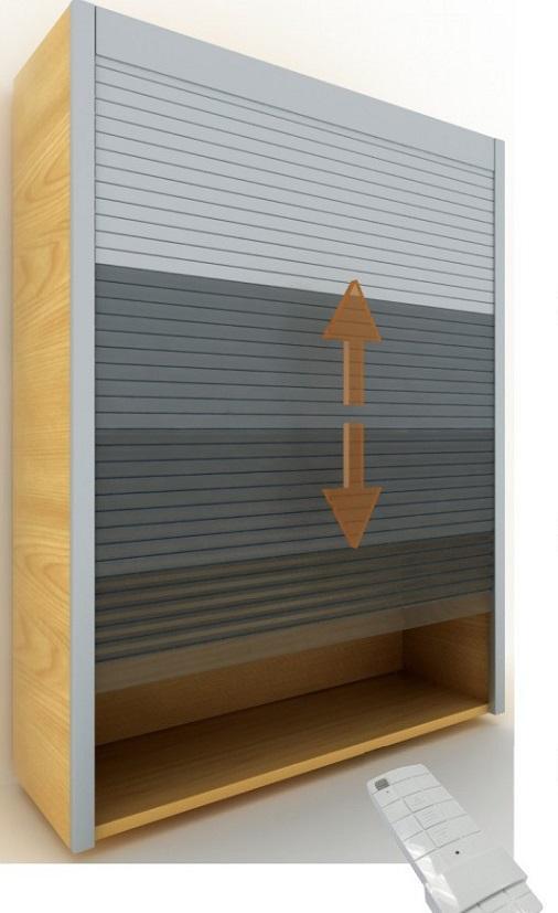 Kitchen Cabinet Roller Shutter Door Remote Control Automatic Roll up Garage Door 4