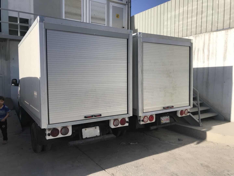Emergency Truck Roll up Door Cargo Slide Door Blind 4