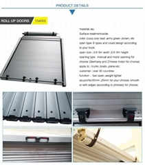 Heavy Duty Roller Shutter Doors Aluminum Roll up Door for Truck