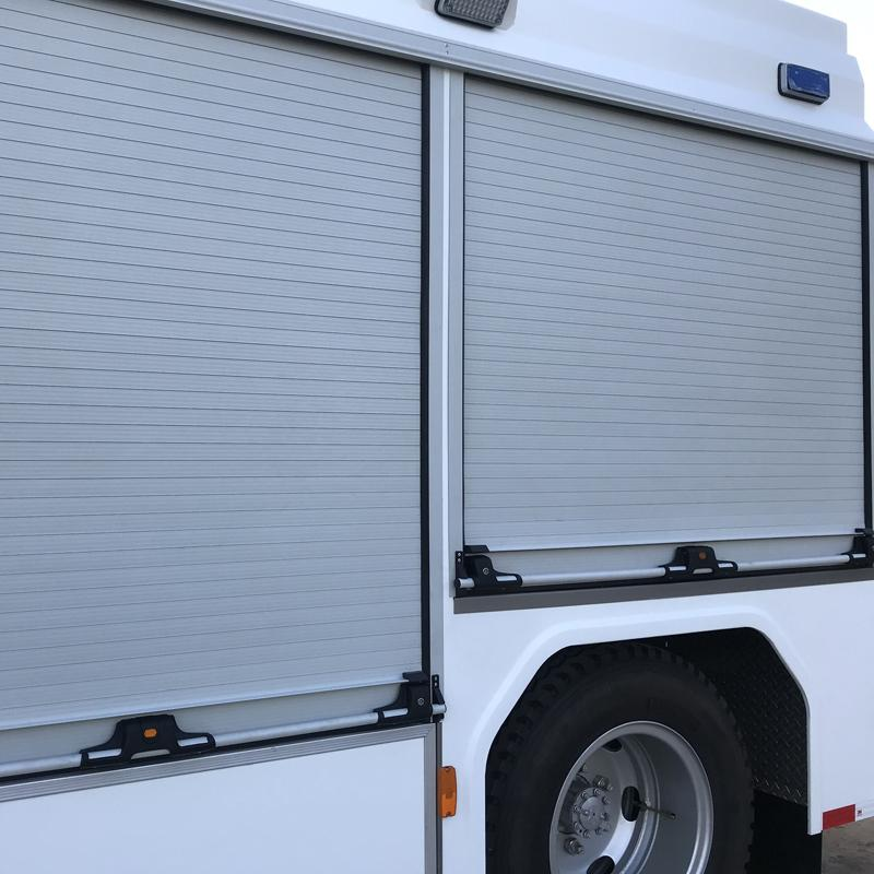 Aluminum automatic vehicle trailer roll up door in china  5