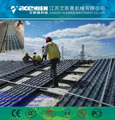 Synthetic Multi-layer PVC Roof Sheet with ASA Resin Coating Making Line