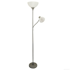 Simple Designs LF2000-S   Floor Lamp with Reading Light, Si  er