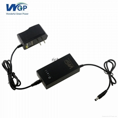 9V 1A rechargeable battery ups power supply with 9 volt dc power adapter US plug