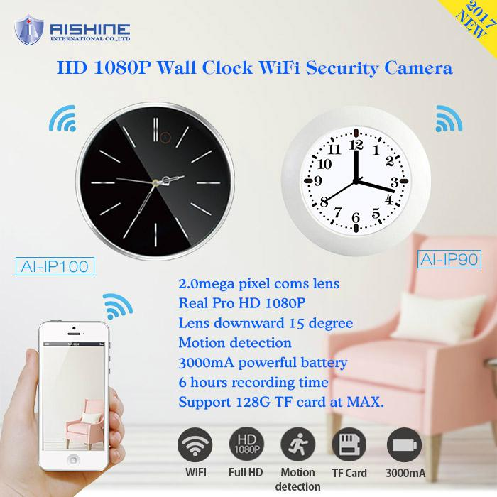 2.0 mega fhd 1080p wifi wall clock hidden camera 3