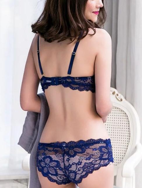 sexy  thin cup lace bra set 2