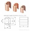 Copper C Clamp C type copper connector clamps Copper C Crimps connector