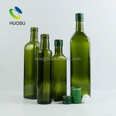 wholesale green glass olive oil bottle