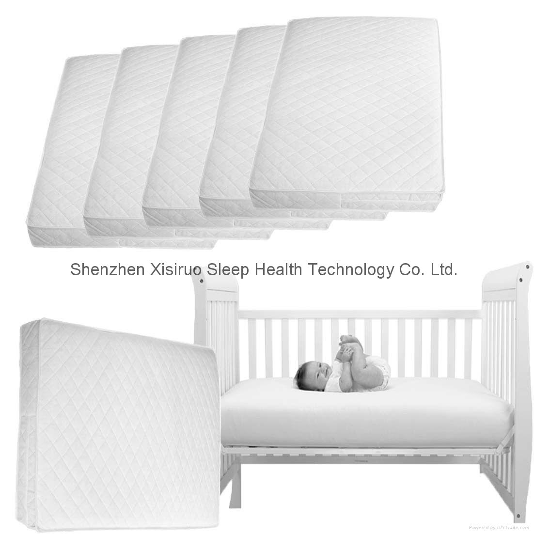Baby Crib Memory Foam Mattress Premium Hypoallergenic Plush Bed Cover Waterproof 1
