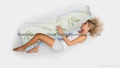 Bamboo Body Pillow Memory Foam Support Full Long Large Natural Antibacterial
