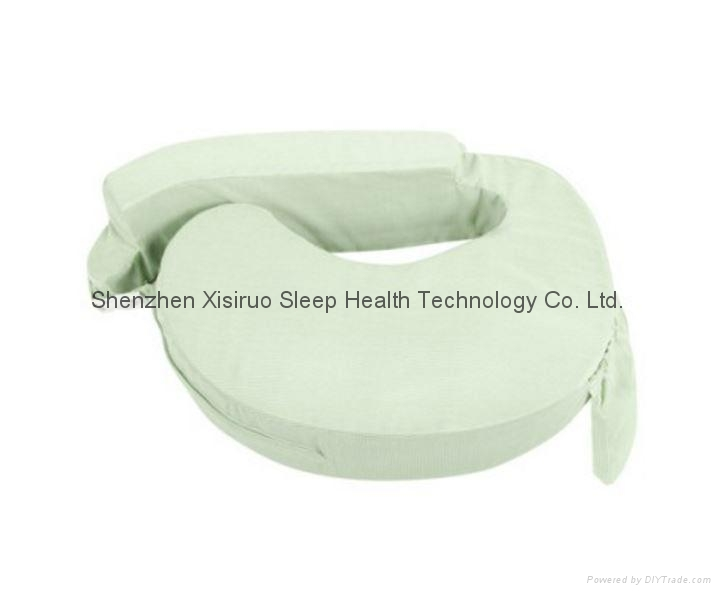 NEW BABY BREAST FEEDING SUPPORT MEMORY FOAM PILLOW W ZIP COVER GREEN WASHABLE $ 3