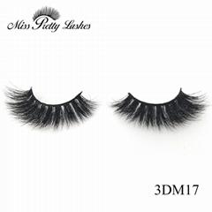 High volume thick dark mink 3d eyelashes