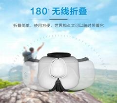 無線折疊護眼儀遠紅外加熱眼罩雙氣囊按摩消除眼干澀疲勞廠家直銷