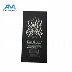 High Quality Custom Cardboard Black Whisky Bottle Box with Logo