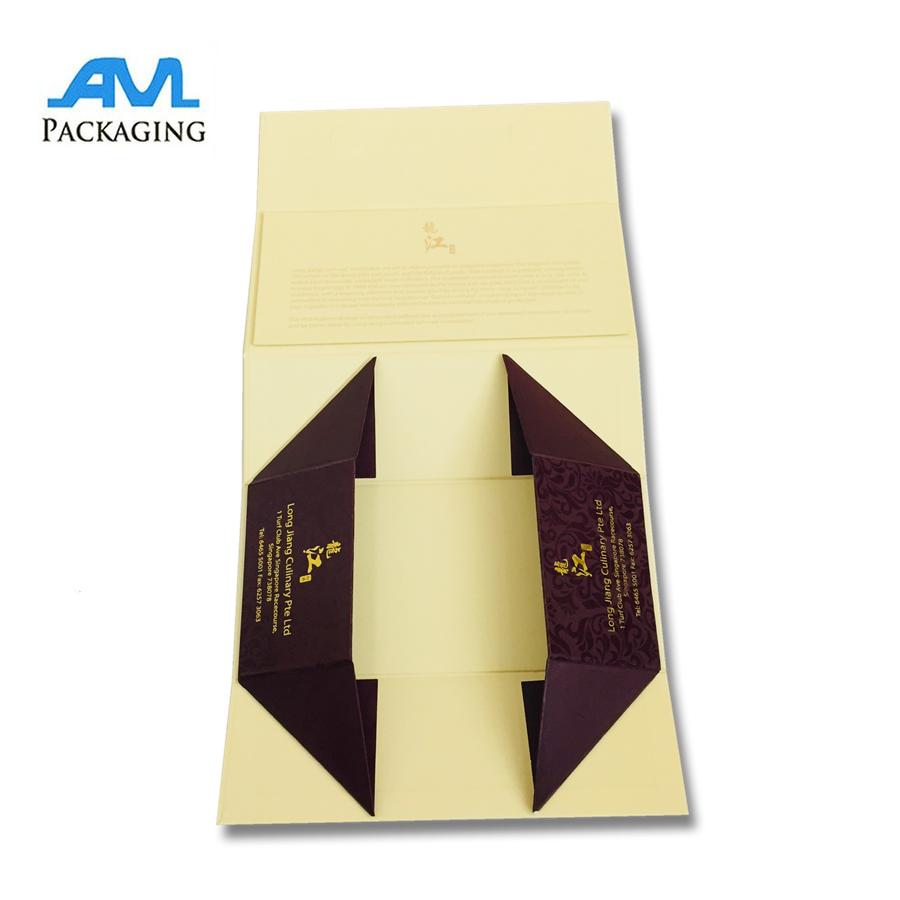 Folding Cardboard Material Custom Making Mooncake Box 1