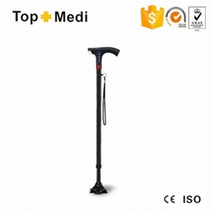 Walking stick cane with FM Light smart cane outdoor walking stick