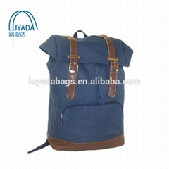 High Quality Cheap Canvas Durable Hiking Travel Laptop School Backpack Drawstrin