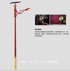 藏族民族特色元素太阳能路灯
