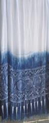 民族风原创手工蜡染丝巾披肩