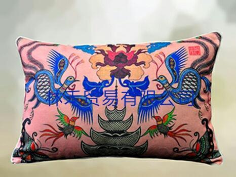 原创艺术优质棉麻腰枕 1