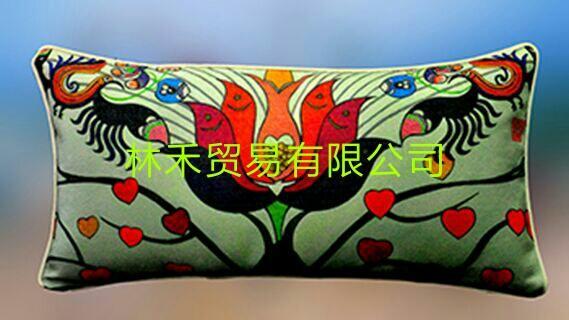 原创艺术优质棉麻腰枕 4