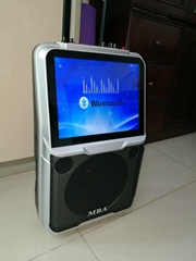 MBA trolley Recharged Amplifier Blutooth Speaker With 12 inch LED Screen display