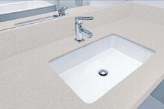 made in china engineered quartz stone bathroom benchtops