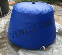 Movable PVC closed  self- standing onion shape water tank