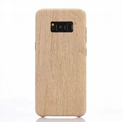 For samsung galaxy s8 Retro Wood Grain pattern soft TPU PU back phone case