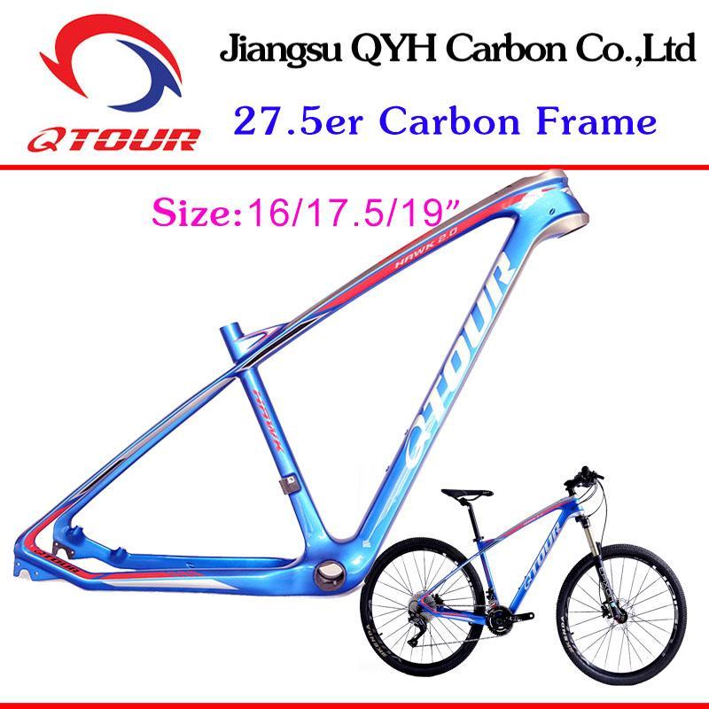 650B China Carbon MTB Frames 27.5er carbon bicycle Mountain Bike frame TORAY T70 1