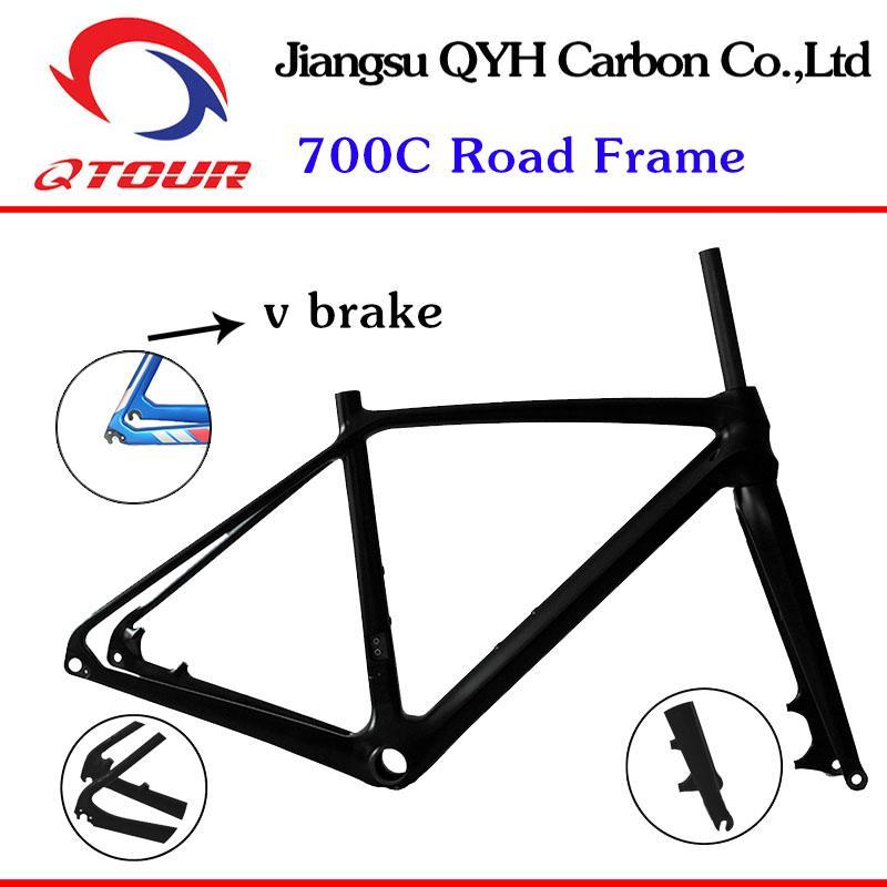 R01 Disc Brake Carbon fiber Road Bicycle Frame set 700C Carbon Road Bike Frame  1