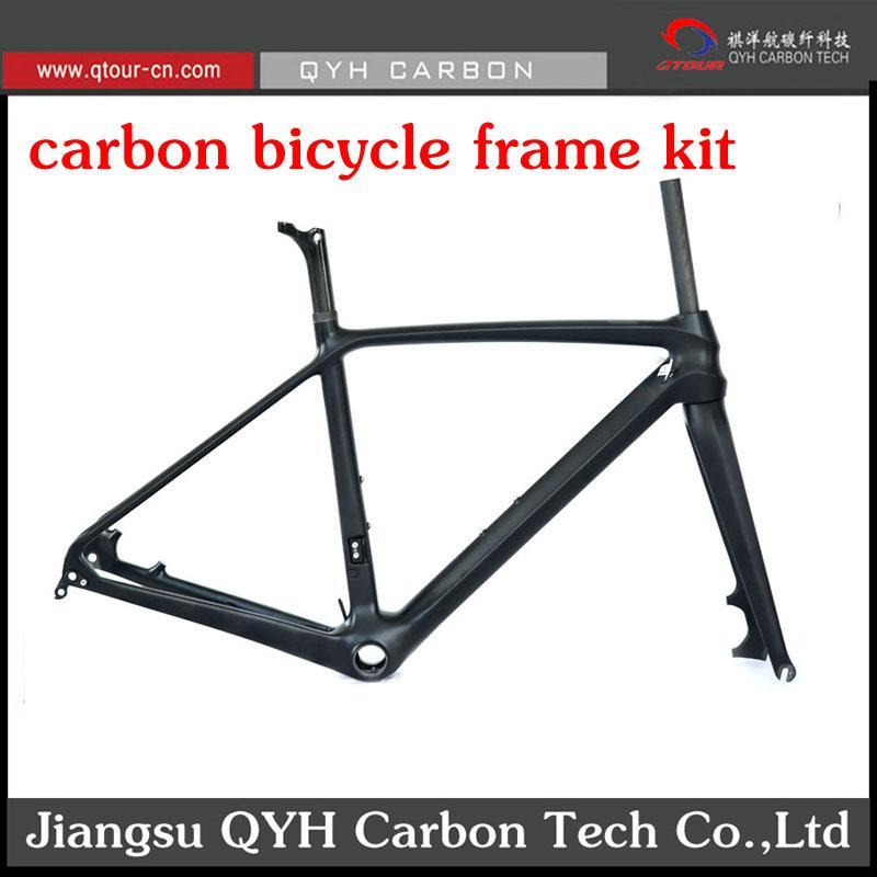 R01 Disc Brake Carbon fiber Road Bicycle Frame set 700C Carbon Road Bike Frame  4