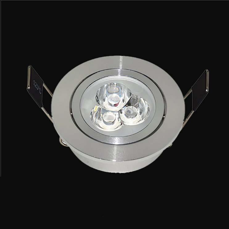 1W3W embedded spotlight adjustable angle si  er LED ceiling spotlight