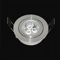 1W3W embedded spotlight adjustable angle