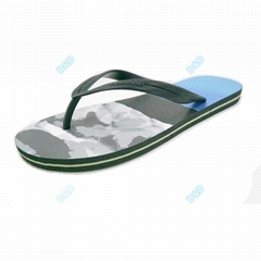 Factory made men customized print eva flip flops