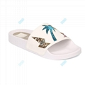 Promotional women leather pool slide