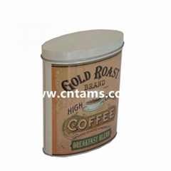 oval tin can for coffee