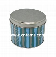 Choc round tin