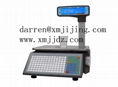 electronic label printing scale